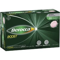 Berocca Boost with Guarana 20 Effervescent Tablets Sugar Free