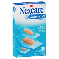 Nexcare 3M Waterproof Strips Assorted 30