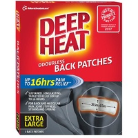 Mentholatum Deep Heat Back Patches 2 Pack | Up to 8 Hours of Warmth
