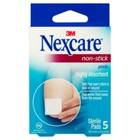 Nexcare Non-Stick Pads 50mm x 50mm 5