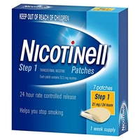 Nicotinell Step 1 Patches 21mg/24 hours 1 Week Supply