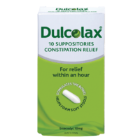 Dulcolax 10mg 10 Suppositories Constipation Relief