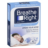 Breathe Right Nasal Strips Clear Regular 30