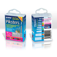 Piksters Interdental Grey Handle Size 0 Brush 40 pack
