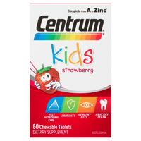 Centrum Kids Multivitamin Strawberry 60 Tablets