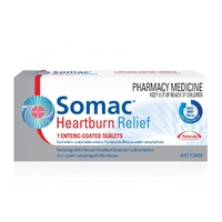 Somac Heartburn Relief 20mg 7 Coated Tablets