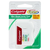 Colgate Mint Waxed Dental Floss 100m