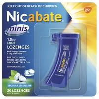 Nicabate 1.5mg Mini Lozenges Mint 20