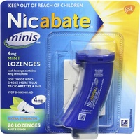 Nicabate Minis 4mg Mint Lozenges Extra Strength 20