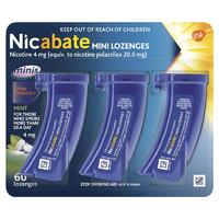 Nicabate Mini 4mg Lozenges 60