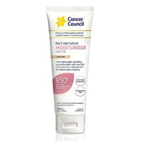 Cancer Council Face Day Wear Moisturiser Matte SPF50 Light Tint 75mL