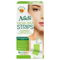 Nad's Facial Wax 20 Strips (10 Double-sided)
