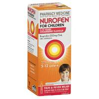 Nurofen for Children 5-12 Years Strawberry Flavour 100mL