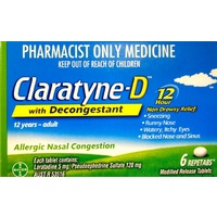Claratyne-D with Decongestant Repetabs 6