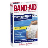Band-Aid Waterproof Tough Strips 10 XL