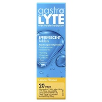 Gastrolyte Effervescent Tablets Lemon 20