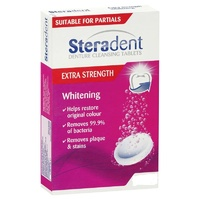 Steradent Extra Strength Whitening Denture Cleansing 48 Tablets