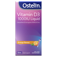 Ostelin Vitamin D3 1000IU Liquid 50mL Orange Flavour