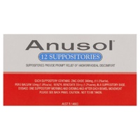 Anusol Suppositories Relief 12