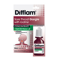 Difflam Sore Throat Gargle with Iodine Concentrate 15mL