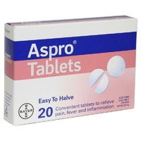 Aspro Clear Aspirin 320mg 20 Tablets