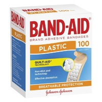 Johnson's Band-Aid Plastic Strips 100