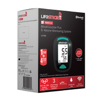 LifeSmart 2TwoPlus Blood Glucose & Ketone Meter LS-946  [Abbott Optium Neo Ketone Alternative]