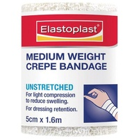 Elastoplast Medium Weight Crepe Bandage 5cm x 1.6m