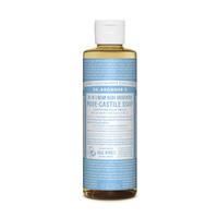 Dr. Bronner's Pure-Castile Soap Liquid (18-In-1 Hemp) Baby Unscented 237mL