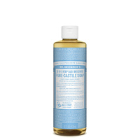 Dr. Bronner's Pure-Castile Soap Liquid (18-In-1 Hemp) Baby Unscented 473mL