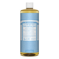 Dr. Bronner's Pure-Castile Soap Liquid (18-In-1 Hemp) Baby Unscented 946mL