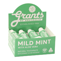 Grants Natural Toothpaste Mild Mint with Aloe Vera 25g x 12