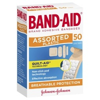 Johnson's Band-Aid Assorted Plastic Strips 50