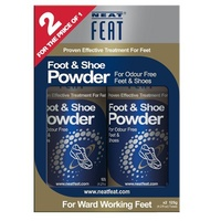 Neat Feat Foot & Shoe Powder Twin Pack 2 x 125mL