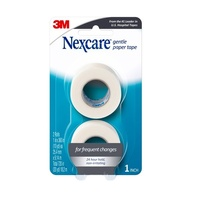 Nexcare Gentle Paper Tape 25.4mm x 9.14m x 2 Rolls