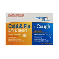Pharmacy Choice Cold & Flu + Cough 18 Day & 6 Night Capsules