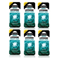 Listerine Go Tabs 8 Chewable Tablets Clean Mint x 6 Packs