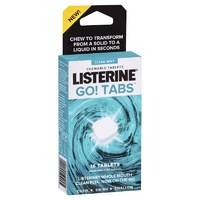 Listerine Go Tabs 16 Chewable Tablets Clean Mint