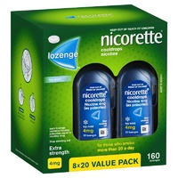 Nicorette Cooldrops Nicotine Lozenges 4mg 160 Icy Mint Value Pack