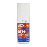 Pharmacy Choice Dry Touch SPF 50+ Kids Sunscreen Roll on Lotion 50mL