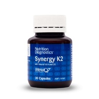 Nutrition Diagnostics Synergy K2 with Natural Vit A & D3 30 Capsules
