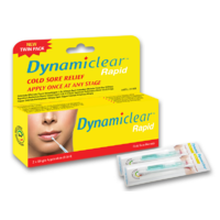 Dynamiclear Rapid 2 Single Application Cold Sore Treatment Cream