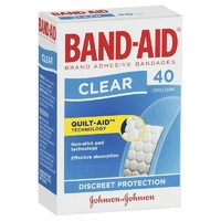 Johnson's Band-Aid Clear 40 Strips