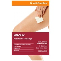 Melolin Absorbent Dressings 5 (5cm x 5cm)