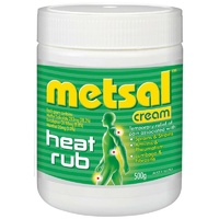 Metsal Heat Rub Cream 500g for Relief