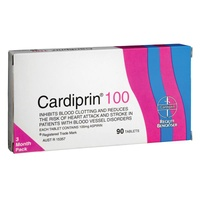 Cardiprin 100mg 90 Tablets