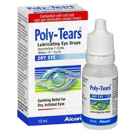 Poly-Tears Lubricating Dry Eye Drops 15mL