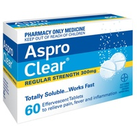 Aspro Clear 60 Tablets Regular Strength