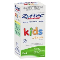 Zyrtec Kids Liquid Banana Flavour 75mL