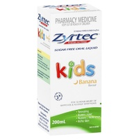 Zyrtec Kids Liquid Banana 200mL
